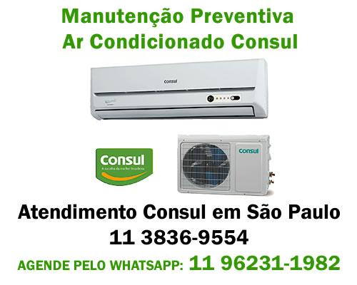Manutenção preventiva ar-condicionado Consul